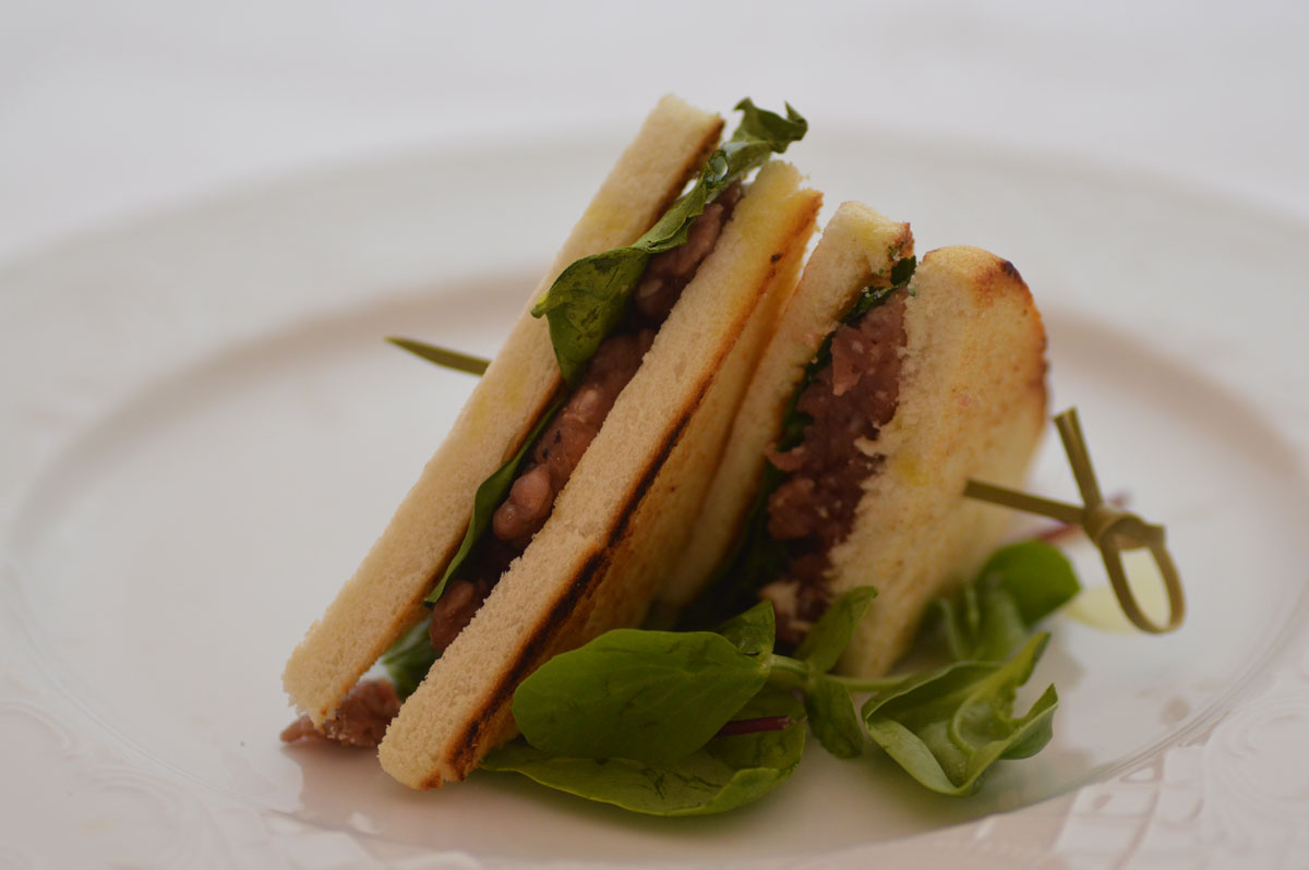 Club Sandwich di cervo Franchi food academy ricetta