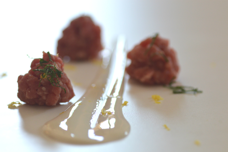 Franchi Food Academy ricetta selvaggina tartare di daino