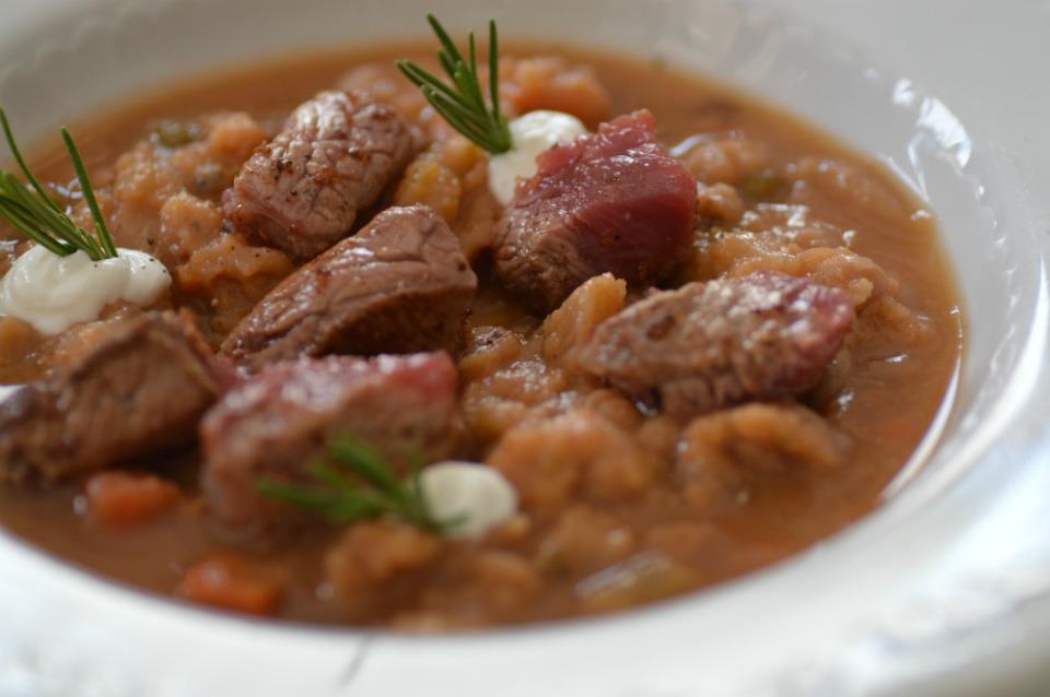 zuppa di verdure con cinghiale Franchi